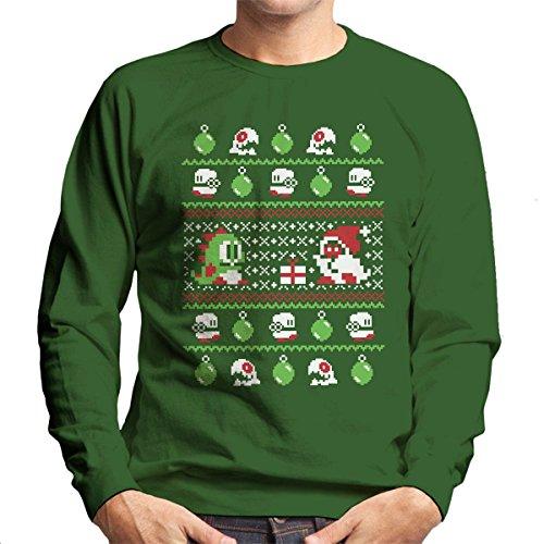 Cloud City 7 Bubble Bauble Bobble Christmas Knit Pattern Men's Sweatshirt