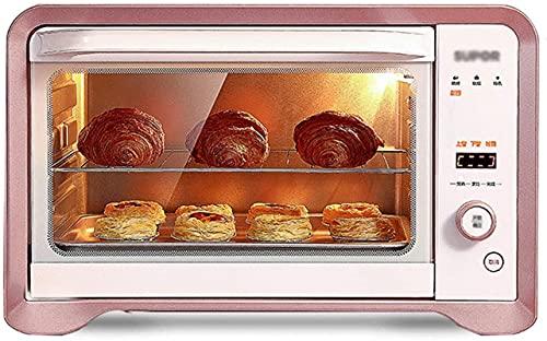 Mini horno eléctrico para el hogar, caja de horneado multifuncional 35L, horno pequeño totalmente automático 1600W, horno eléctrico de tubo de calefacción de acero inoxidable