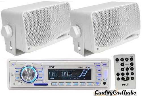 Buy Discount Pyle Audio Package for the Car/Truck/SUV/Boat, PLMR18 AM/FM MPX Radio with SD/Memory-Ca...