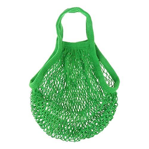 Bolsa de red para la compra, saco de patatas de algodón orgánico, color verde