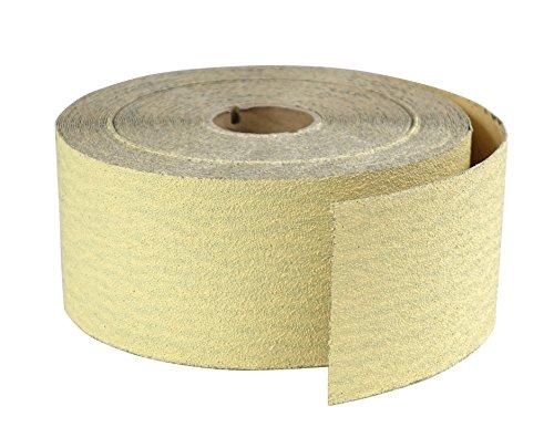 POWERTEC 4RA1122 Premium Gold 2-3/4 Sandpaper Rolls | Sticky Back Adhesive – 220 Grit,25