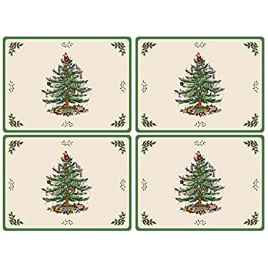 Spode Christmas Tree Hardback Placemats, Set of 4