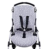 JANABEBE Funda para Bugaboo Bee 3, Bee plus, Bee 5 (White Star)