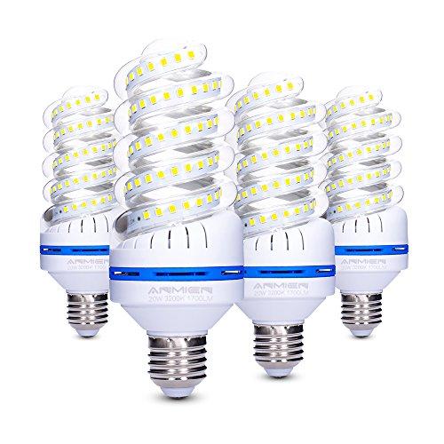 Bro.Light - Lampadine LED E27da 20W equivalenti a 150Watt delle lampade a incandescenza, non dimmerabile, bianco caldo 3200K, 1700lm, angolo di diffusione 360° , Pack di 4