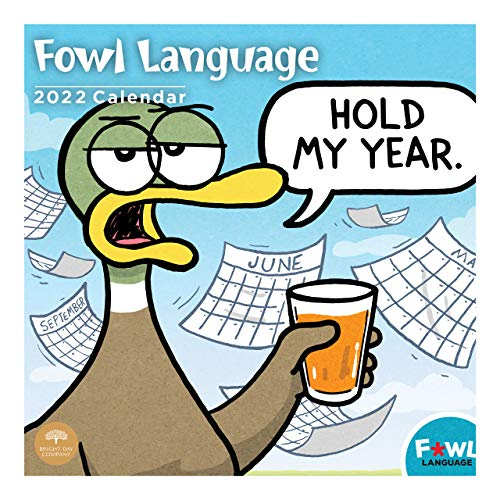 2022 Fowl Language Wall Calendar by Bright Day, 12 x 12...