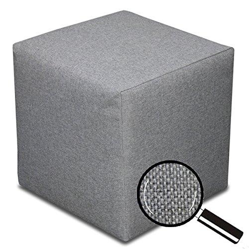 Best for Home Sitzhocker Sitzwürfel Bodenkissen Fußhocker 40x40x40 cm viele Farben (Dunkelgrau)