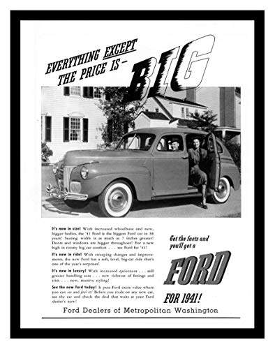 8 x 10 Photo Print 1941 Ford_Jpg Vintage Old Advertising Campaign Ads