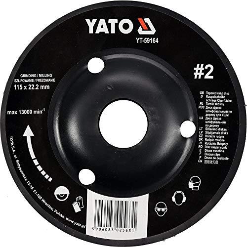 YATO YT Profi Raspelscheibe für Winkelschleifer, Auswahl 115mm/125mm Schleifscheibe, 2 Schräg