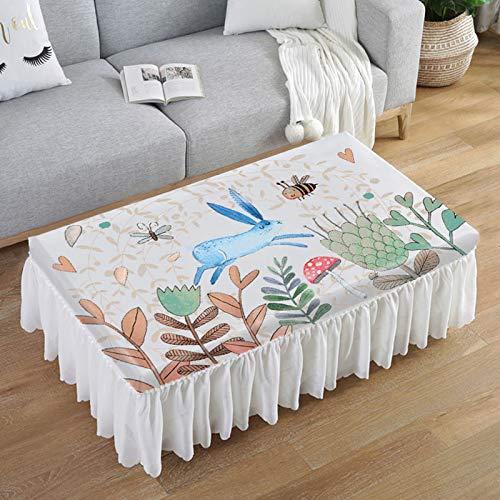 LIUJIU Home Nappe de Table carrée résistante à la saleté et à l'eau Effet Lotus Facile d'entretien Disponible en différentes Tailles e,140X80X40cm