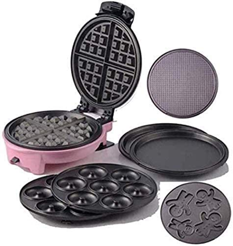 Afscheid te nemen van paniek/ordelijke ontbijt 3 IN 1 muffin Maker 600W Multi Function Household Pancake Machine Egg Roll Machine Leuk Roze gestroomlijnde look Ergonomische Anti Scalding Handle Can