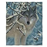 Dawhud Direct Super Soft Plush Fleece Throw Blanket by Collin Bogle (Broken Silence Wolf)