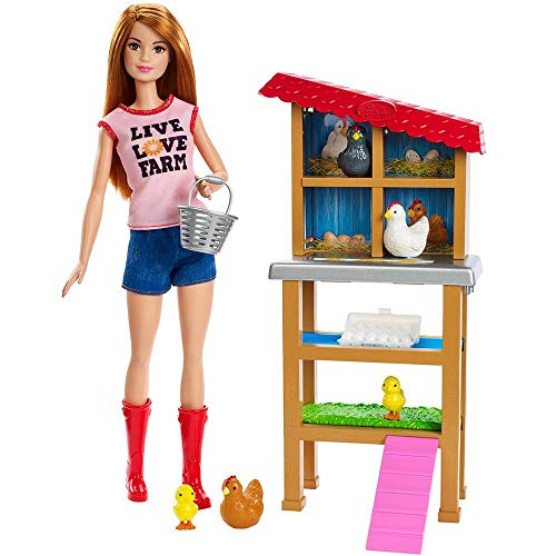 Boneca Barbie Conjunto Profissões FXP15 Granjeira Mattel