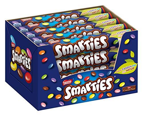Nestlé SMARTIES Riesenrolle, bunte Schokolinsen, ideal für Kindergeburtstage, ohne künstliche Farbstoffe, Großpackung für kleine Naschkatzen, 20er (20 x 130g)