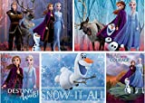 Ceaco Disney Frozen II 5 in 1 Multipack Jigsaw Puzzles, (2) 300 Pieces, (2) 500 Pieces, (1) 750 Pieces