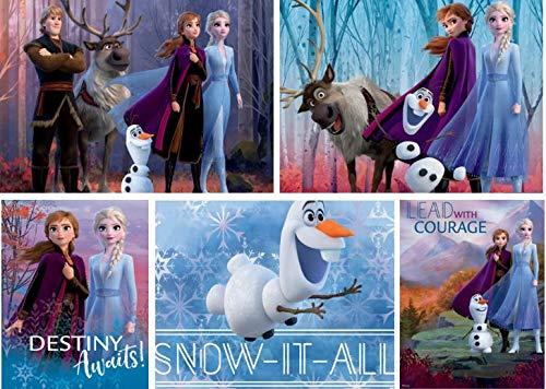 Ceaco Disney Frozen II 5 in 1 Multipack Jigsaw Puzzles, (2) 300 Pieces, (2) 500 Pieces, (1) 750 Pieces