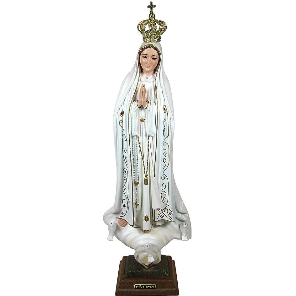 よろしく暴露する否定する20インチ50?cm Our Lady of Fatima像宗教Figurine Virgin Mary Madonna Made in Portugal