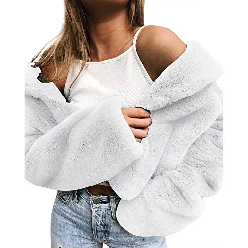 BESSKY Sweatshirt-Kleid mit Reißverschluss Frauen gedruckt Buchstaben Crop Top Sweatshirt Langarm Hoodies Winterjacke Damen kurz mit Fellkapuze