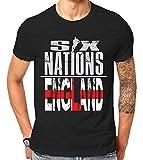 Scralandore Design Six Nations Rugby England Supporter T Shirt 2019 (Medium)