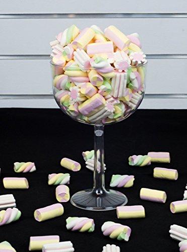 Casa dolce casa 3 Porta Confetti in PLASTICA Trasparente per Confetti, Caramelle E DOLCIUIMI (3 CALICI Dimensione Ø16 x 24 cm)