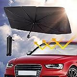 "Car Front Windshield Sunshade Umbrella , UV Protection & Heat Insulation Foldable Sun Shade Sun Visor, Full Cover Sun Shade for Most Vehicles, 57""X31"""