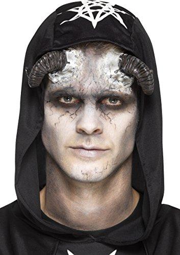 Smiffys Prothèse en latex, cornes de démon, Noir, avec adhésif