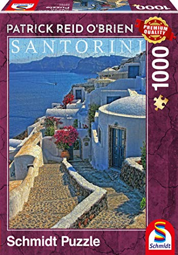 Schmidt Spiele Puzzle 59584Patrick Reid O' Brien, Santorini, Puzzle da 1000Pezzi