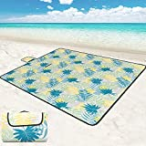 ROSMARUS Large Beach Picnic Blanket, 79' 79' Foldable Camping Outdoor Blanket, Waterproof Backing Picnic Mats for Camping Hiking Beach Grass Travelling Festivals Leaves