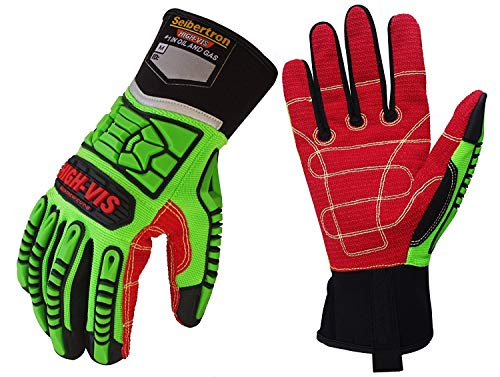 Seibertron HIGH-VIS HDC5 Level 5 Cut Resistant Deckhand Gloves High Performance Protection Impact Resistant Oil and Gas Safety Gloves CE EN388 4543 XL