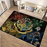 Vscdye Fantasy Magic Collage Mappa Tappeto da Pavimento Zerbino Quadrato 3D Tappeto Camera da Letto Cucina Tappetino Antiscivolo Regali 100X160Cm