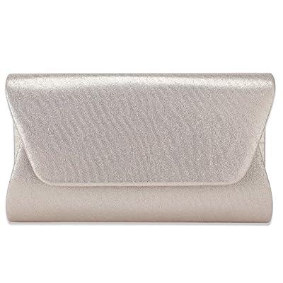 Women Envelope Evening Bag Clutches, WALLYN'S Flap Dazzling Shouder Bags Handbag Purse For Wedding & Party