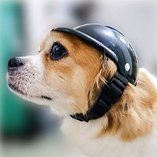 XINGX Casco de seguridad para perros y gatos, gorro para montar en...