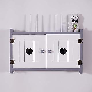 Los estantes flotante montado en la pared del estante de almacenamiento router, MDF material, decodificador de cable / enr...
