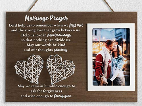 12.5×8.5 Marriage Prayer Wedding Gifts for Couples Anniversary,...