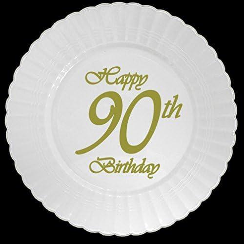 Max 77% OFF Max 46% OFF Partypro 90TH Classy Birthday Plastic Plate 8 Dessert CT.