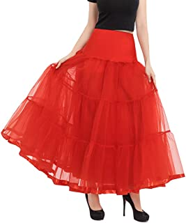 Moholl Women's, Teen, Adult Classic Elastic 3, 4, 5 Layered Tulle Tutu Skirt Short Ballet Bubble Puffy Petticoat Skirt