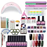 Saint-Acior Gel Nail Polish Kit with U V Light 36W LED U V Nail Dryer Curing Lamp Base Top Coat Gel Polish Tools Nail Decorations Manicure Nail Art Starter Kit