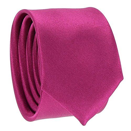 Cravate Fine Violet fushia - Cravate Homme Coupe Slim Moderne - 5cm à la Pointe - Couleur Unie - Accessoire Chemise pour Mariage, Cérémonie
