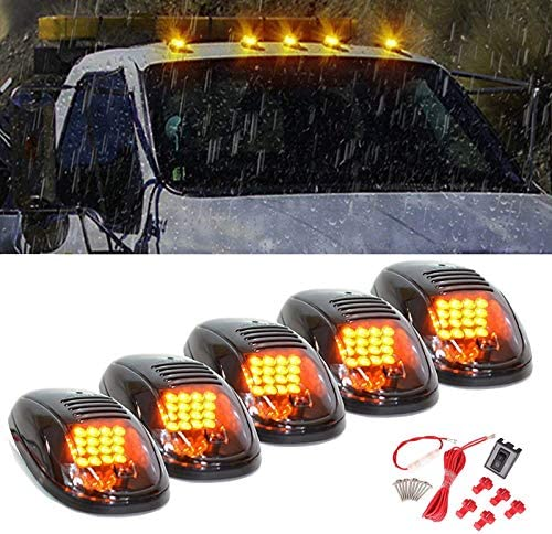 5 X Max 59% OFF Special price Cab Marker Light Smoke Lens Roof 16 Amber R LED Housing