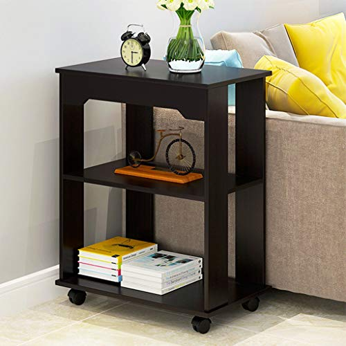 derenzide 3-Tier Locker Bedroom Bedside Cabinet Living Room Sofa Table Coffee Desk with Wheels Mobile Convenient Storage Locker Bedroom Night Table Sofa Coffee Table Modern End Table