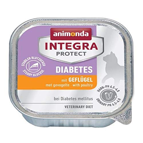 Integra Protect Diabetes 12 X 100g Poultry Grain Free Wet Food For Cats With Elevated Blood Sugar Levels Enriched With Protein And Completely Free Of Carbohydrates