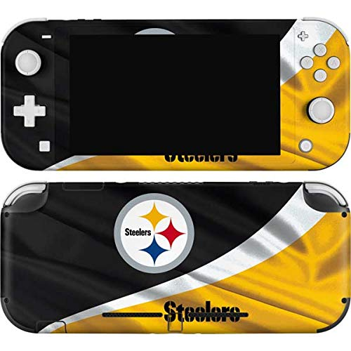 Skinit Decal Gaming Skin Compatible with Nintendo Switch Lite - Officially Licensed NFL Pittsburgh Steelers Design