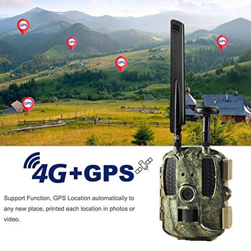 ZXL Cámara de caza 4G + GPS 12 MP 1080P HD 54PCS Infrarrojos Visión Nocturna 120 grados Gran angular IP66 Cámara impermeable para la caza y seguridad en casa