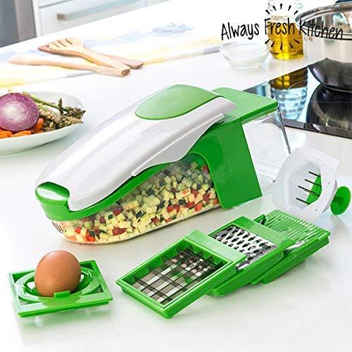 Always Fresh Kitchen Cortador y Pelador de Verduras, Acero Inoxidable, Verde, 13 x 34 x 13 cm, 6 Unidades