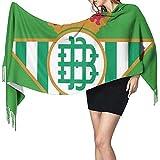 PQU Awesome Unisex Scarf,Real Betis Bufanda Para Mujer Moda Chales Largos A Cuadros Abrigos Para Montar A Caballo Senderismo