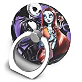Phone Ring Holder Universal Cell Phone Ring Grip Stand with Car Mount Holder 360 Degree Rotation Finger Ring Kickstand Compatible with iPhone,Samsung-Sweet Loving Jack Skellington and Sally