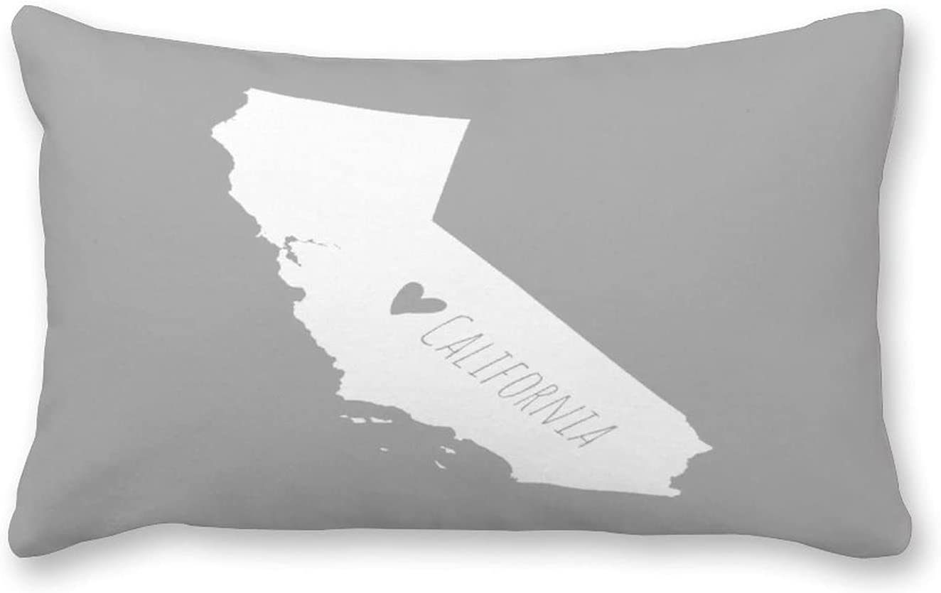 By Unbranded Canvas excellence Pillow Complete Free Shipping Map State California Home