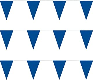FlagandBanner Blue Heavy Duty String Pennants (30 ft.)