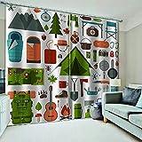 WAFJJ Cortina 3D De Dormitorio Dibujos Animados y montañismo Adecuado para Dormitorio Sala De Estar Habitación Infantil Cortinas Opacas Tamaño:2x140x245cm(An x Al)