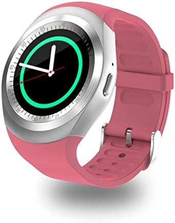Amazon.com: NOKKOO Y1 Smart Watch Smart Band Touch Watch ...