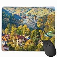 マウスパッド美しい秋の田舎の長方形滑り止めパーソナライズされたデザインゲーミングラバーマウスパッドステッチエッジマウスマット9.8x11.8インチ